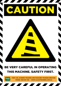 Caution: Be very careful in operating this machine