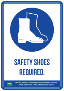 Mandatory Sign: Safety Shoes Required