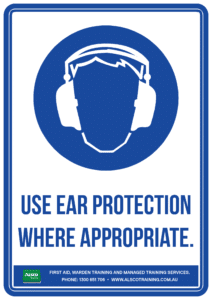 Mandatory Sign: Use Ear Protection Where Appropriate