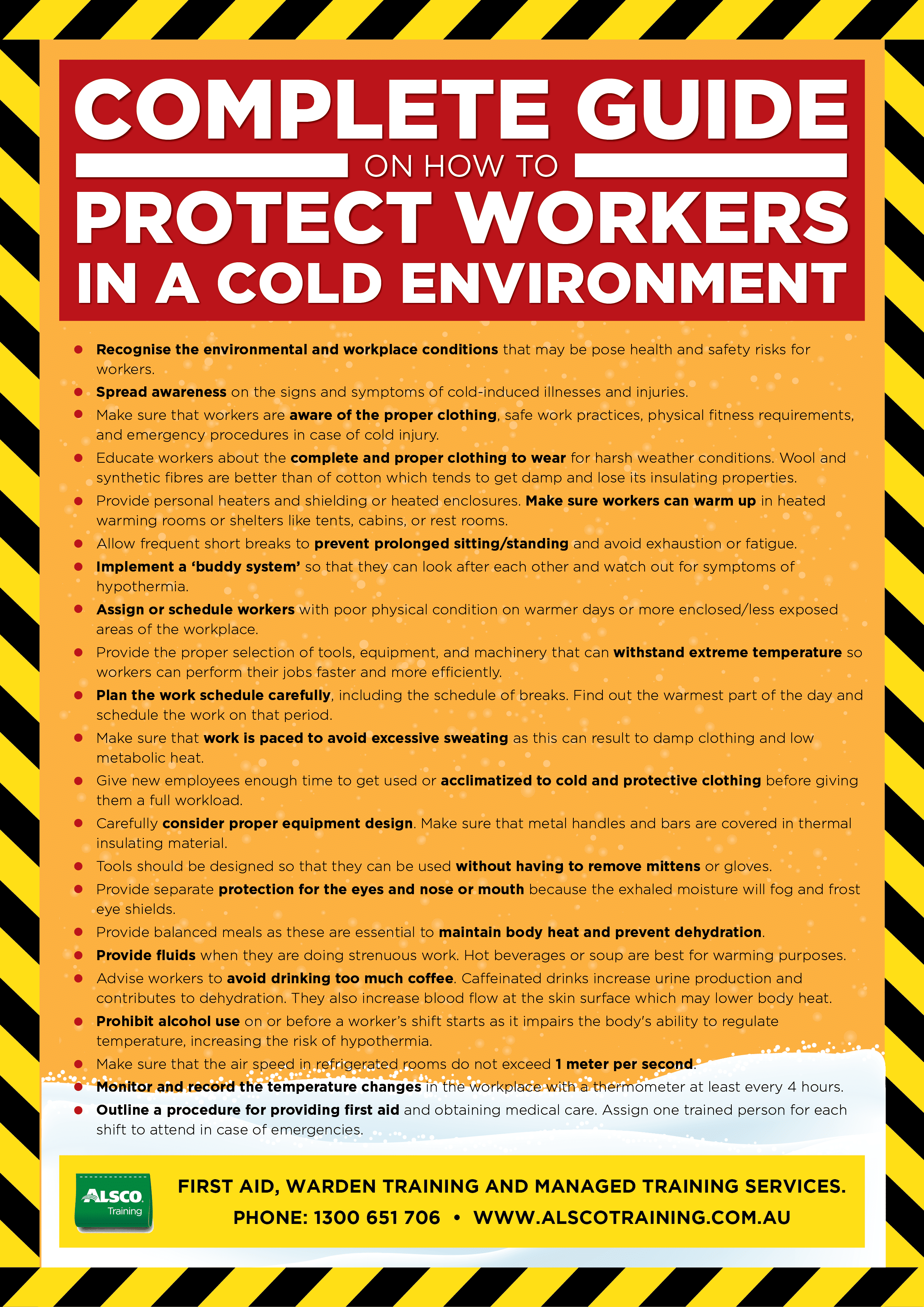 Workplace safety posters - How To Protect Workers In A Cold Environment