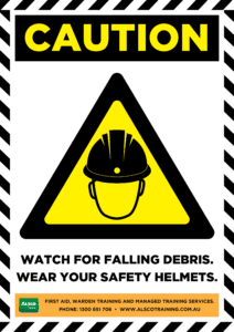 Caution: Watch for falling debris