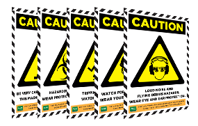 Caution Sign Poster thumbnail image
