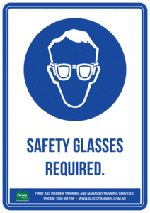 Mandatory Sign: Safety Glasses Required